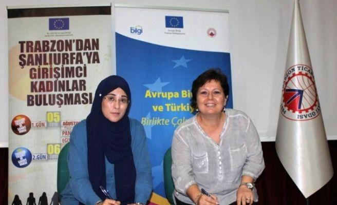 Trabzon ve Şanlıurfalı girişimci kadınlardan 'Kardeşlik Protokolü'