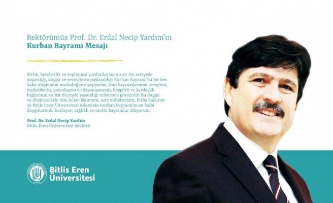 BEÜ Rektörü Prof. Dr. Yardım'dan 8 Ağustos mesajı