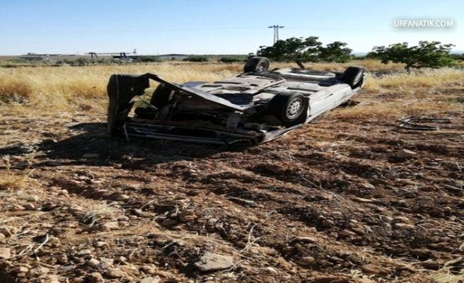 Birecik'te Otomobil Takla Attı 3 Yaralı