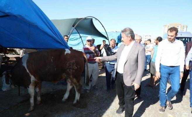 Başkan Palancıoğlu Kurban Pazarı'nda
