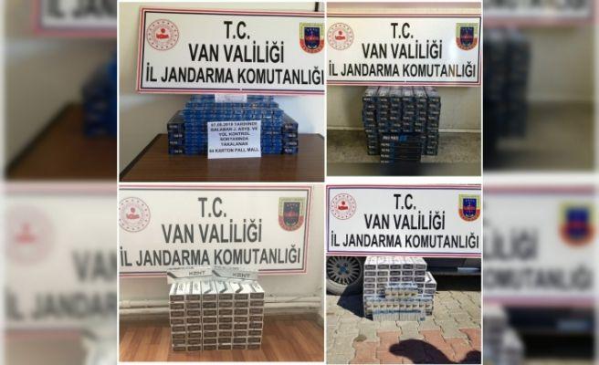 Gevaş'ta 800 paket kaçak sigara ele geçirildi