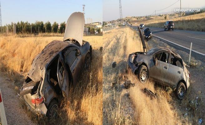 Kahta-Siverek Karayolunda Otomobil Şarampole Devrildi 5 Yaralı