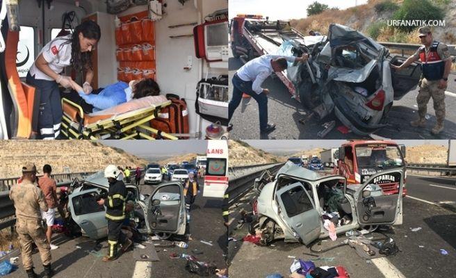 Urfa-Antep Yolunda Feci Kaza 2 Ölü 4 Yaralı