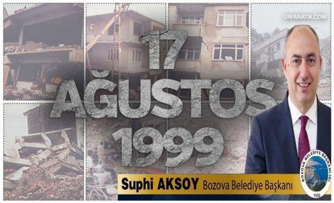 Başkan Aksoy'dan 17 Ağustos Mesajı
