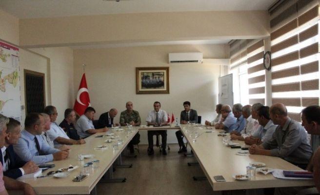 Çerkezköy'de alınacak güvenlik tedbirleri konuşuldu