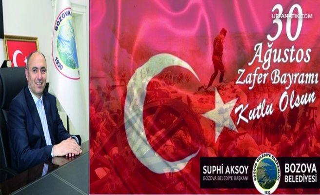Başkan Aksoy'dan 30 Ağustos Zafer Bayramı Mesajı