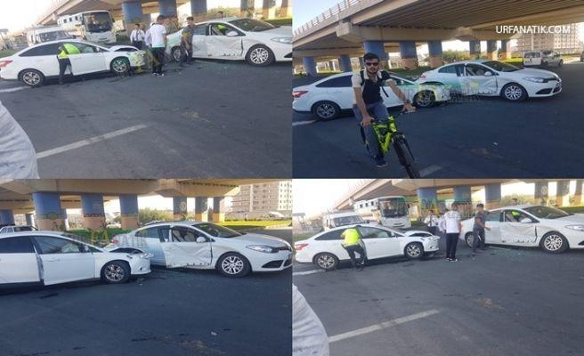 Eski OSM Kavşağında Trafik Kazası