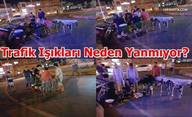 Virajı Alamayan Motosiklet Sürücüsü Kaza Yaptı