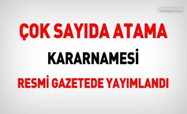 Atama Kararnamesi Resmi Gazete'de Yayımlandı
