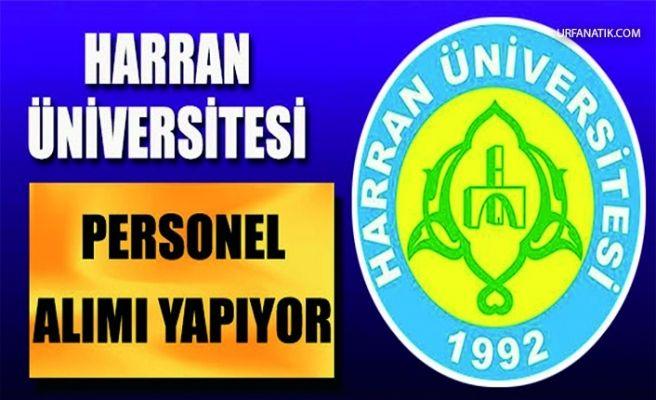 Harran Üniversitesi 101 Personel Alacak!