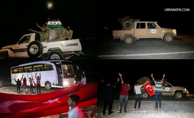 Sınıra Suriye Milli Ordu Askeri İle Silahla Donatılmış Arazi Aracı Gönderildi