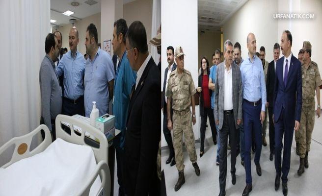 Bakan Soylu Roketli Saldırıda Yaralananları Ziyaret Etti