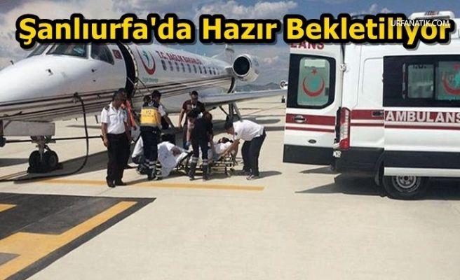 Urfa'dan Havalandı 2 Hayat Kurtardı