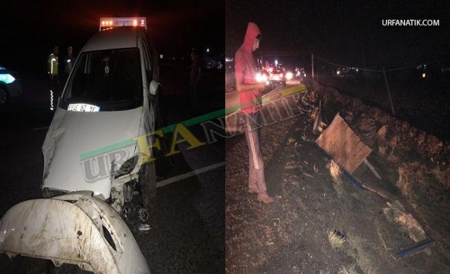 Siverek'te Otomobil At Arabasına Çarptı 2 Ağır Yaralı