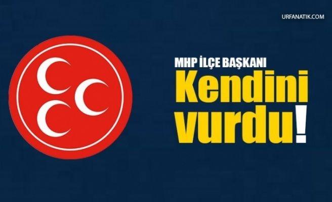MHP'li Başkan Kendisini Silahla Vurdu!