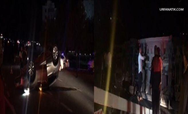 Karaköprü'de Kamyonet İle Otomobil Çarpıştı: 3 Yaralı