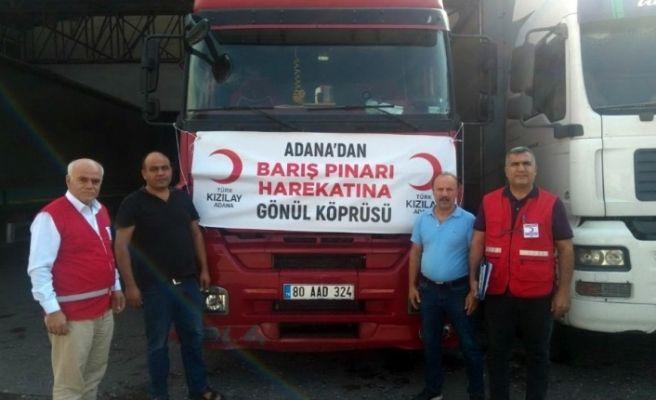 """Adana'dan """"Barış Pınarı Harekatı""""na gönül köprüsü"""