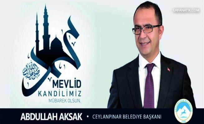 Başkan Aksak'tan Mevlid Kandili Mesajı