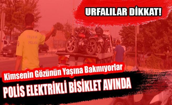 Şanlıurfa'da Elektrikli Bisiklete 2 Bin 250 Lira Ceza