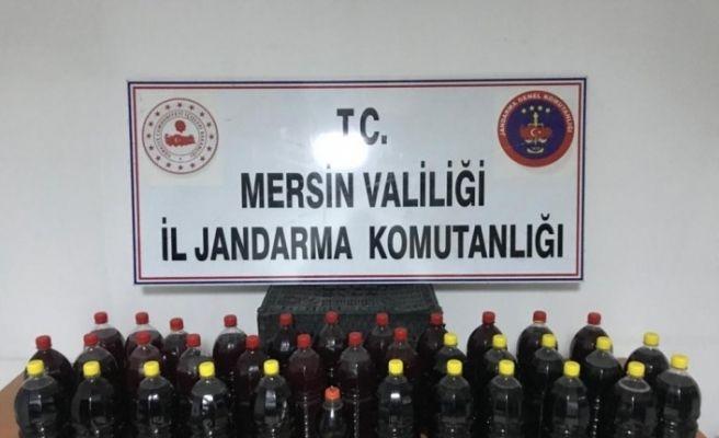 Mersin'de 191 litre sahte içki ele geçirildi