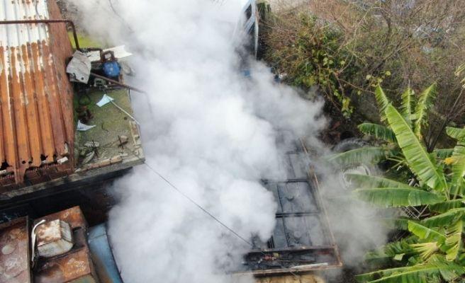 Kaçak rafineriye drone destekli operasyon