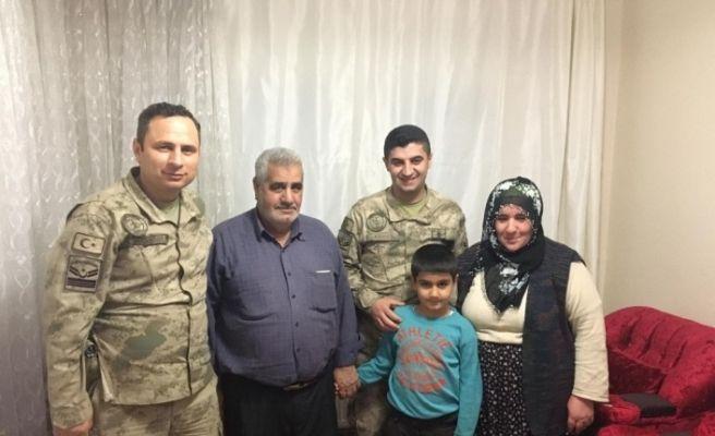 Jandarma'dan şehit aileleri ve gazi ziyareti