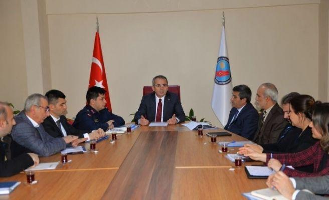 Tosya'da ilçe idare şube başkanları toplantısı yapıldı