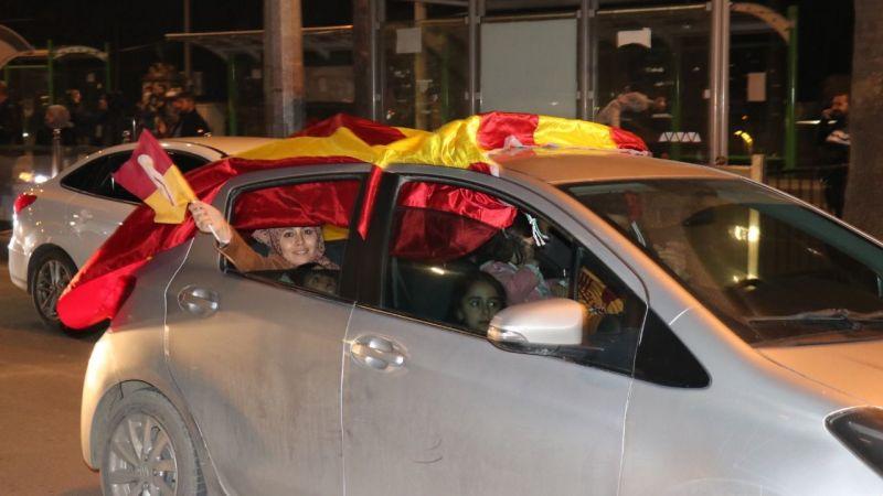 Galatasaray'ın galibiyeti Şanlıurfa'da coşkuyla kutlandı