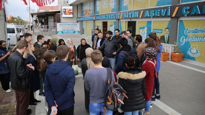Yabancı öğrenciler Haliliye tesislerinde