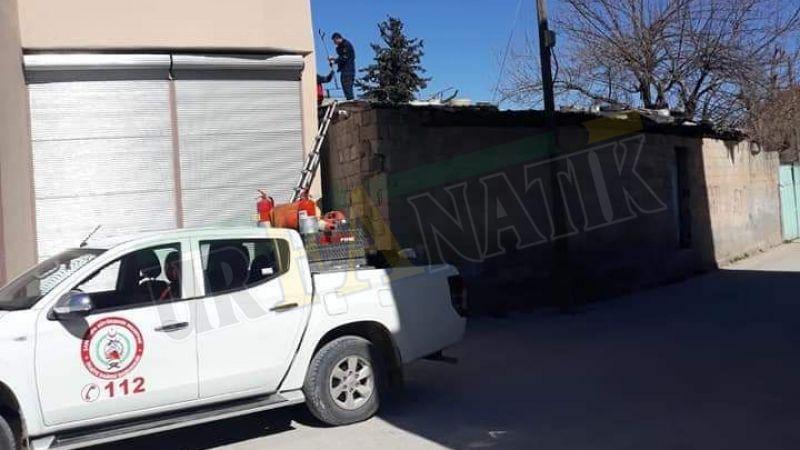 Suruç'ta itfaiye ekiplerinin horoz operasyonu