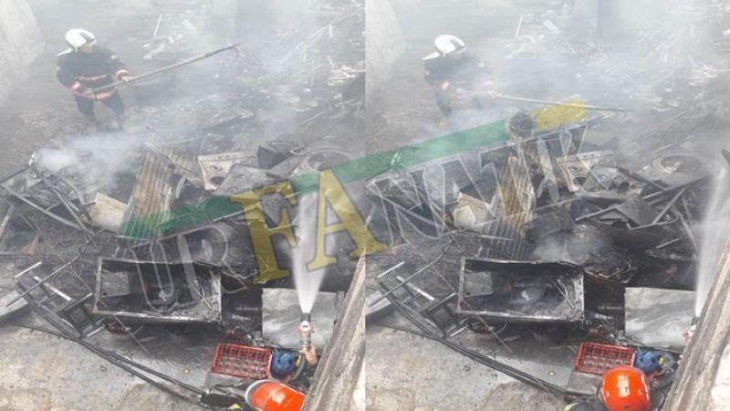 Urfa'da Tek katlı ev kül oldu