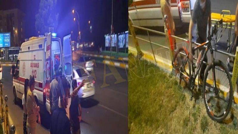Abide Kavşağında otomobil bisikletliye çarpıp kaçtı