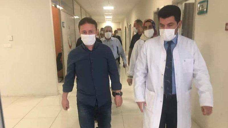 Urfa'da Kaymakam vakaların bulunduğu hastaneye gitti!