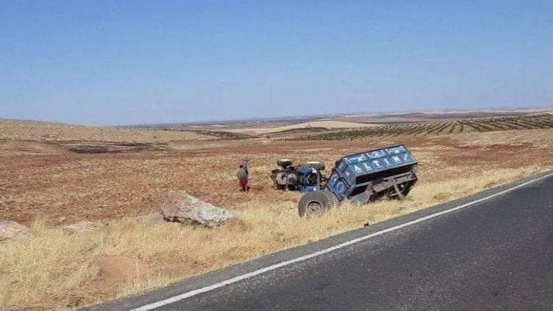 Urfa'da traktör şarampole devrildi: 1 kişi yaralandı!