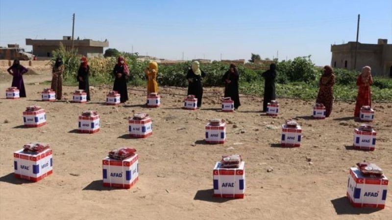 Urfa'dan Suriye sınırına yardım eli