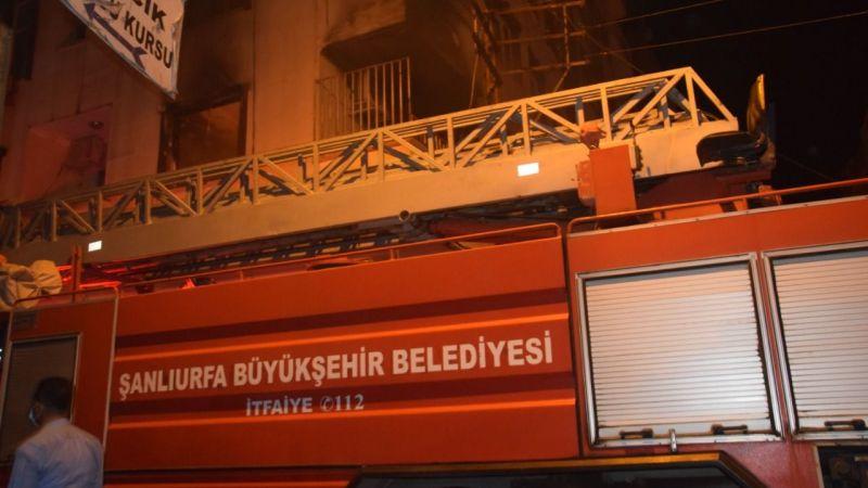 Birecik'te Klima evi kül etti