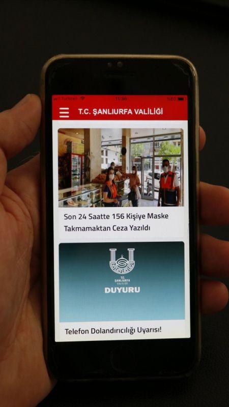 Şanlıurfa Valiliği Kovid-19 tedbirlerini telefon uygulamasıyla duyuracak