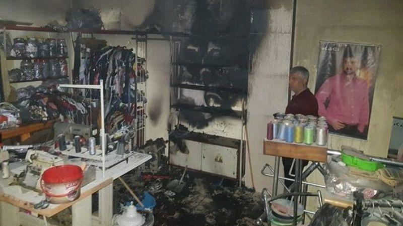 Viranşehir'de Giyim dükkanında korkutan yangın!