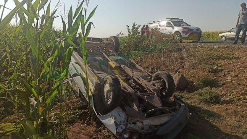 Viranşehir'de kaza: takla atarak durabildi!