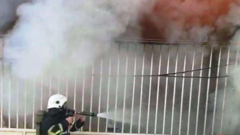 Urfa'da bir evde yangın çıktı:Eşyalar kül oldu!