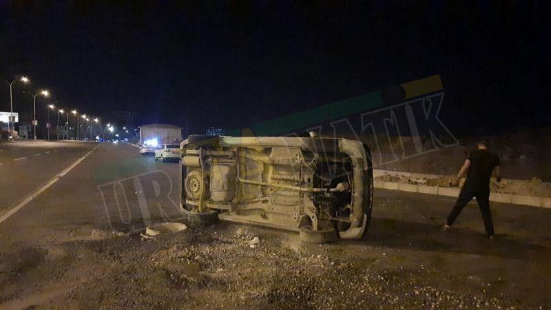 Şanlıurfa'da Otomobil, düz yolda takla attı