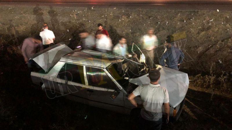 Suruç'ta Otomobil şarampole uçtu: Yaralılar var