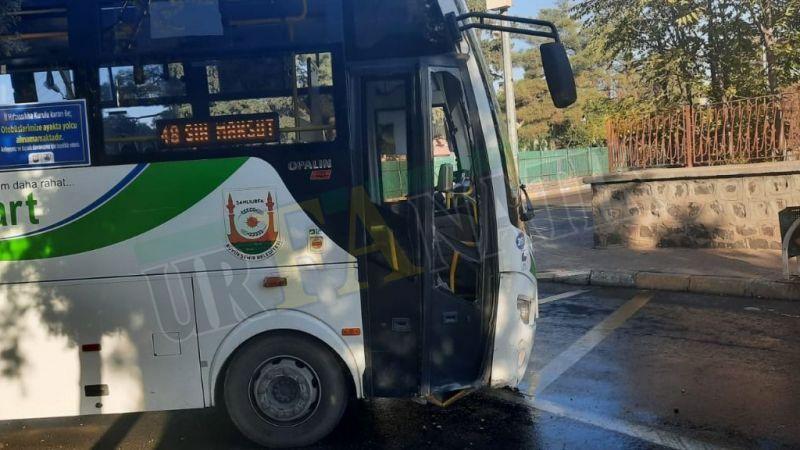 Urfa'da halk otobüsü kaza yaptı:Yolcular büyük korku yaşadı