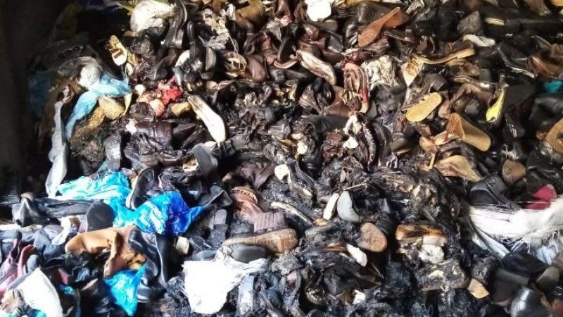 Urfa'da ayakkabı deposunda yangın çıktı!