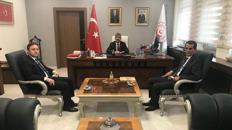 Kaymakam Koca Ankara'da temaslarda bulundu