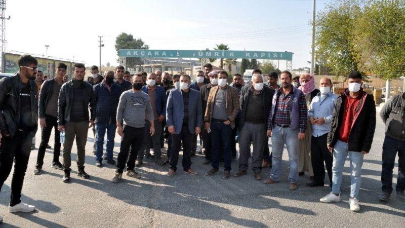 Urfa'da şoförler eylem yaptı