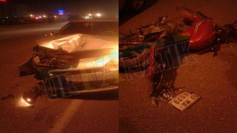 Urfa'da motosiklet ile otomobil çarpıştı!