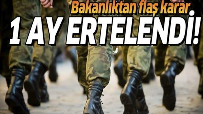 Urfa'dan askere gidecek olanlar dikkat! 1 ay ertelendi