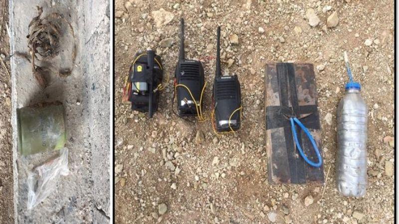 Urfa sınırında el yapımı bomba ele geçirildi