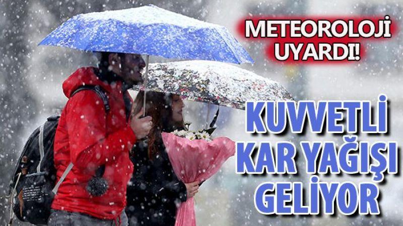 Meteoroloji il il uyardı! Yoğun kar yağışı geliyor